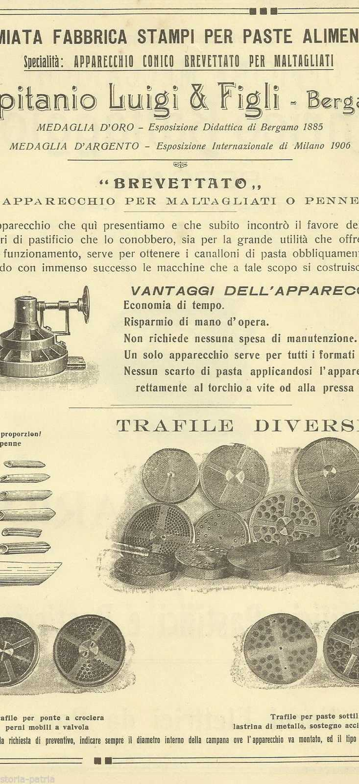 Bergamo, Pastificio, Paste Alimentari, Trafile, Capitanio, Officine Battaggion, Pane anteprima